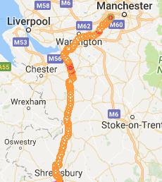 Shrewsbury to Manchester
